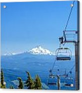 Mount Jefferson And Chairlifts Acrylic Print
