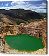 Mount Lyall Mine In Queenstown Acrylic Print