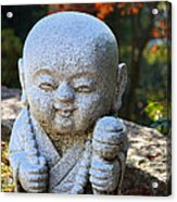 Mount Misen Buddha Acrylic Print