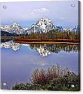 Mount Moran And Jackson Lake Acrylic Print