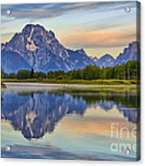 Mount Moran At Sunrise Acrylic Print