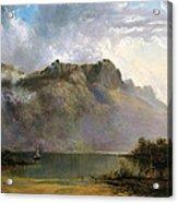 Mount Olympus. Lake St Clair. Tasmania The Source Of The Derwent Acrylic Print