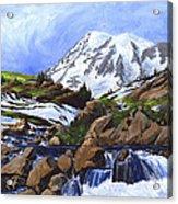 Mount Rainier From Edith Creek Acrylic Print
