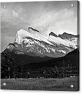 Mount Rundle At Banff National Park Acrylic Print