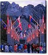 Mount Rushmore At Night Acrylic Print