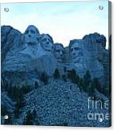 Mount Rushmore Blues Acrylic Print