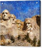 Mount Rushmore Monument Photo Art Acrylic Print