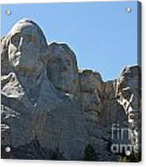 Mount Rushmore National Monument Acrylic Print