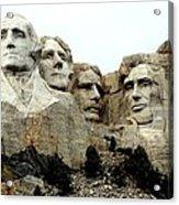 Mount Rushmore Presidents Acrylic Print