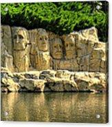 Mount Rushmore Acrylic Print by Ricky Barnard