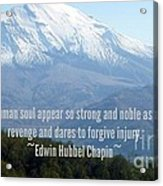 Mount Saint Helen's Text Acrylic Print