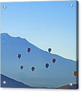 Mount Shasta Balloonrise Acrylic Print