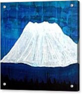 Mount Shasta Original Painting Acrylic Print