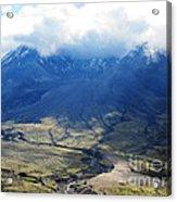 Mount St. Helen's Cloud Kissed Acrylic Print