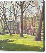Mount Street Gardens, London Oil On Canvas Acrylic Print