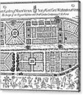 Mount Vernon: Garden Acrylic Print by Granger