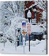Mount Vernon Snow Land Acrylic Print