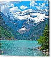 Mount Victoria Rises Above Lake Louise In Banff Np-alberta Acrylic Print
