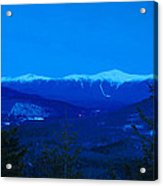 Mount Washington And The Presidential Range At Twilight From Mount Sugarloaf Acrylic Print