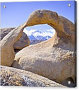 Mount Whitney Framed By The Mobius Arch Acrylic Print