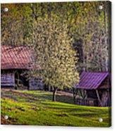 Mountain Barns In North Carolina Acrylic Print