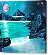 Mountain Bay Acrylic Print
