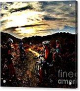 Mountain Biking Ladies Acrylic Print by Scott Allison