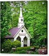 Mountain Chapel Acrylic Print by Crystal Joy Photography