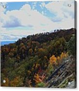 Mountain Colors Acrylic Print by Judy  Waller