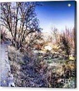 Mountain Creek Path-sundance Utah Acrylic Print