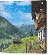 Mountain Farm In Austria Acrylic Print