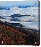 Mountain Fog - Blue Ridge Parkway Acrylic Print