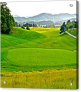 Mountain Golf Acrylic Print
