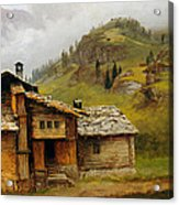 Mountain House  Acrylic Print by Albert Bierstadt