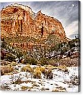 Mountain In Winter Acrylic Print