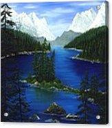 Mountain Lake Canada Acrylic Print