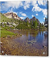 Mountain Lake In The Dolomites Acrylic Print