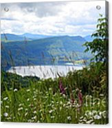 Mountain Lake Viewpoint Acrylic Print by Carol Groenen