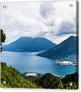 Mountain Lakes In Guatemala Acrylic Print
