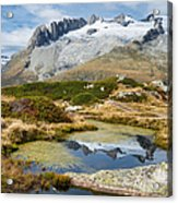 Mountain Landscape Water Reflection Swiss Alps Acrylic Print