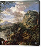 Mountain Landscape With Figures Acrylic Print