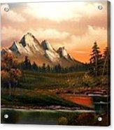 Mountain Meadow Dusk Acrylic Print