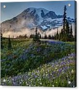 Mountain Meadow Serenity Acrylic Print