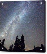 Mountain Milky Way Stary Night View Acrylic Print