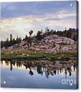 Mountain Mirror View Acrylic Print