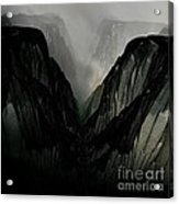 Mountain Mist And Fog Acrylic Print