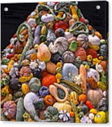 Mountain Of Gourds And Pumpkins Acrylic Print