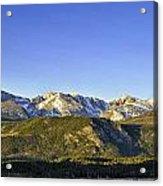 Mountain Panorama Acrylic Print by Tom Wilbert