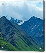 Mountain Peaks From Eielson Visitor's Center In Denali Np-ak Acrylic Print