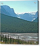 Mountain Peaks From Icefields Parkway-alberta Acrylic Print